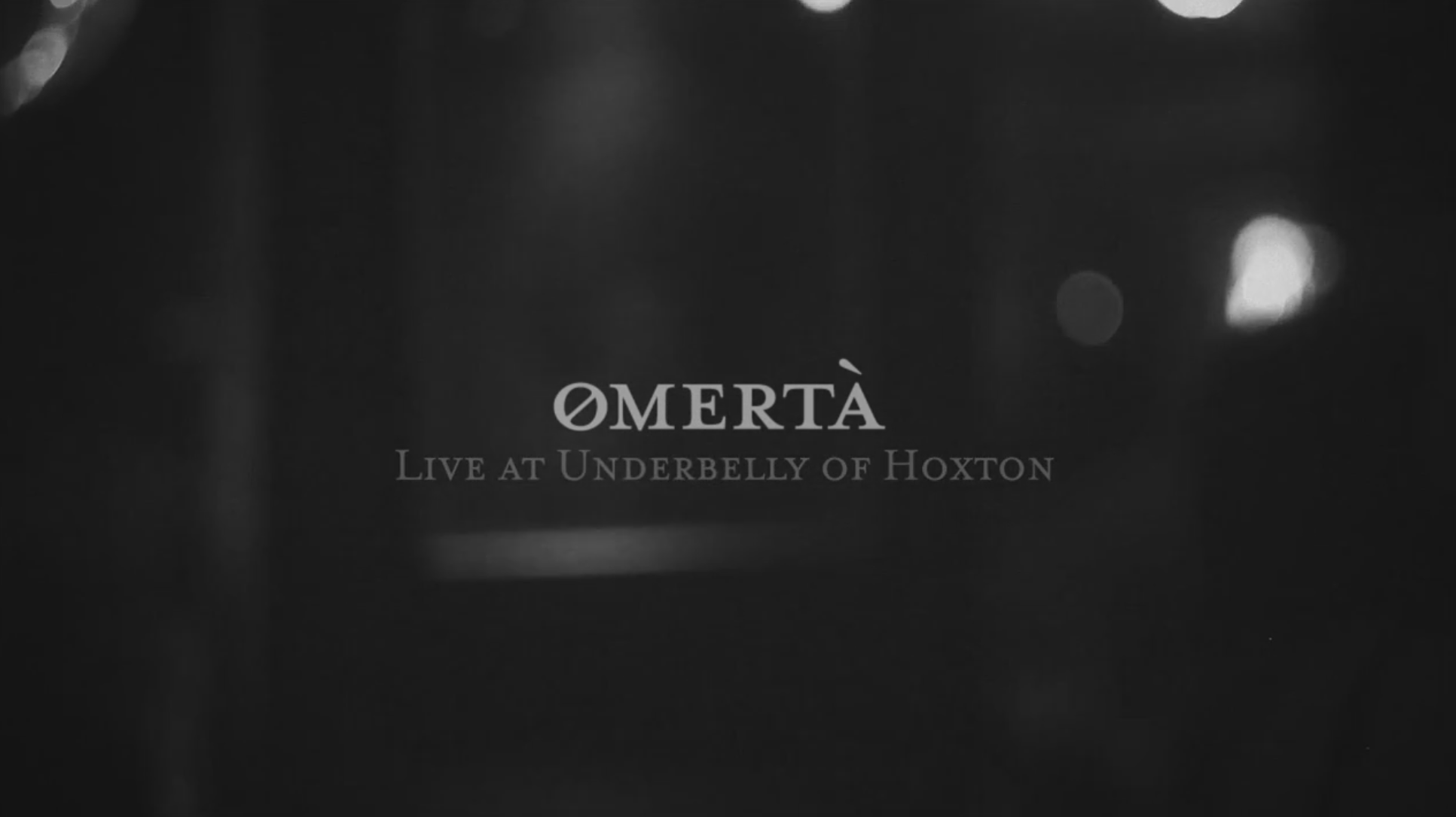 Omerta - Dashboard Live Performance